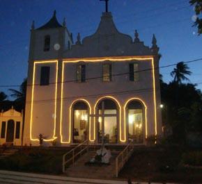 A igreja católica de Morro de São Paulo