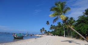 Praia da ilha de Boipeba