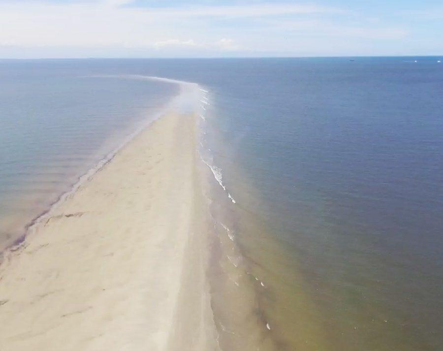 banco de areia na ilha da coroa