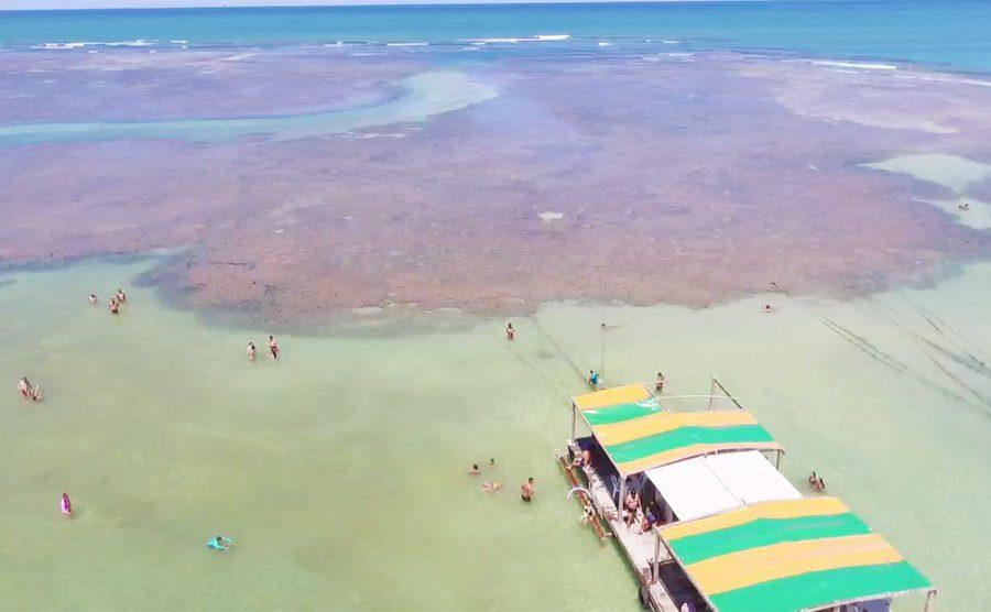 piscinas naturais praia de Garapua bahia