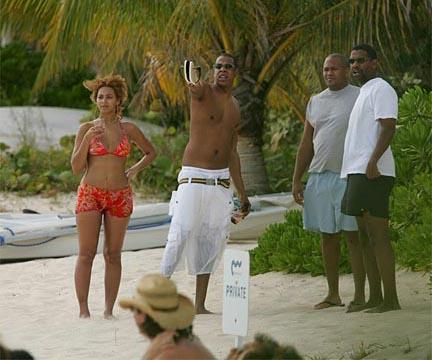 Beyoncé e Jay-Z na Praia - Morro de São Paulo