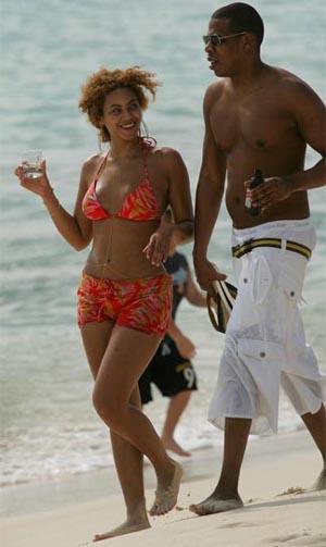 Jay-z e Beyoncé na Praia de Morro de São Paulo