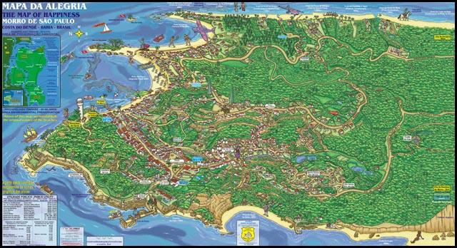 Mapa de Morro de São Paulo