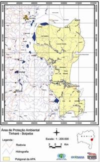 Plano da APA Tinharé Boipeba onde se situa Morro de São Paulo