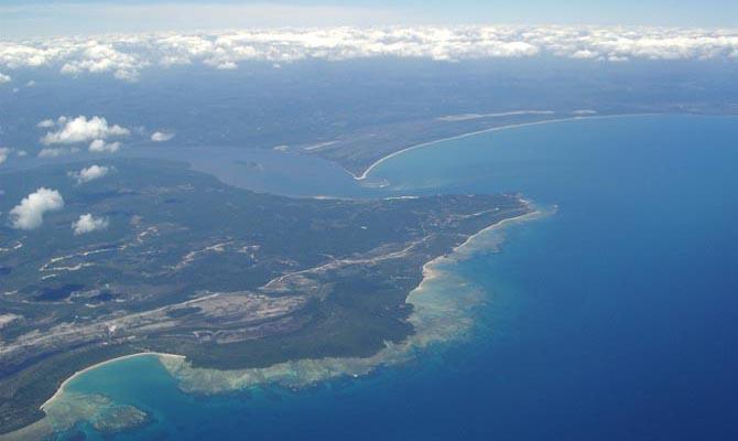 Vista aérea de Morro de São Paulo no Arquipélago Tinharé Boipeba
