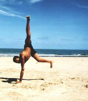 Capoeira na Quarta Praia