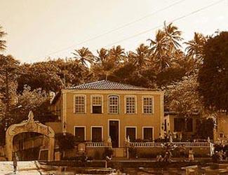 O casarão na Vila de Morro de São paulo