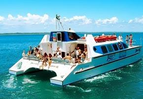 Via marítimo para Salvador e Garapuá