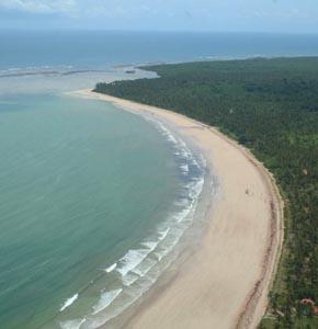 Praia de Garapuá - Foto aérea