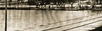 Old picture of boats at the harbour of Morro de São Paulo