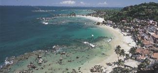 Aquarela de la playa de Morro de San Pablo
