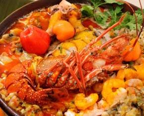 Comida Baiana num Restaurante de Morro de São Paulo
