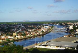 Vista aérea de Valença na Bahia