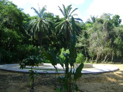 A praçinha do projeto da Lagoa no Morro de São Paulo Bahia Brasil